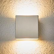 LED-ulkoseinälamppu Jana, ruostumaton, 10x10cm