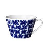 Mon amie teekuppi Sininen-valkoinen
