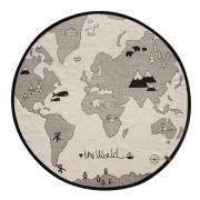 The world lasten matto Ø 135 cm beige-harmaa