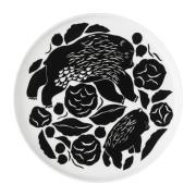 Karhuemo lautanen Ø20 cm Valkoinen-Tummanvihreä